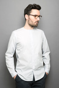 Collarless Shirt stone