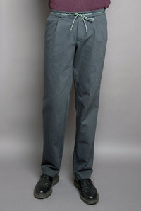 One pleat pant grey