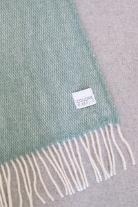 Woolen Throw Pick Stitch Greenstone