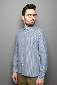 Kent Collar Shirt blue stripes