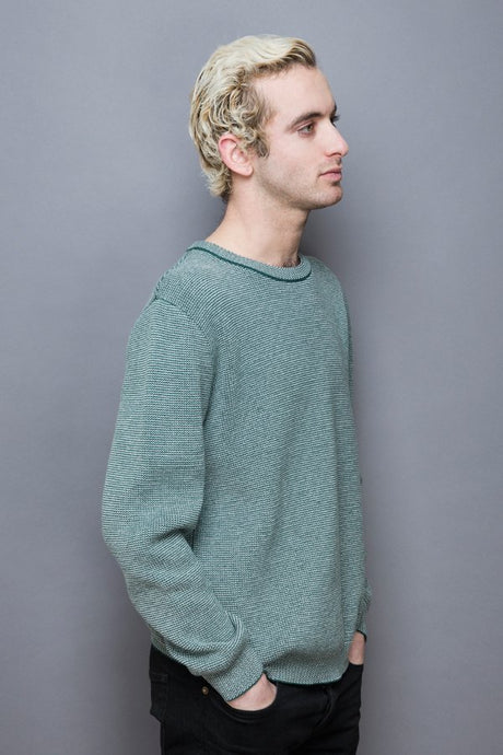 Waves Knitsweater greenstone