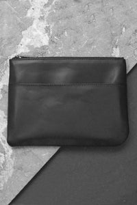 Travel Leather Case black
