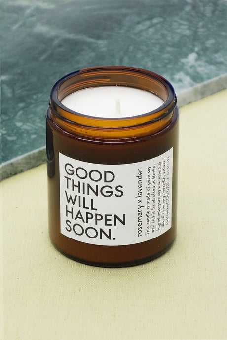 Good things ... Candle rosemary x lavender / ESSENTIALS Scented Candle