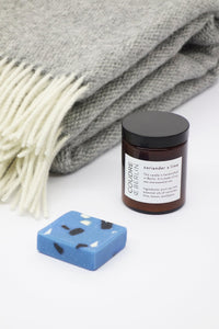 Gift Set Wool Blanket + Candle + Soap