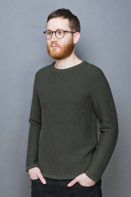 Rib Knit Sweater olive