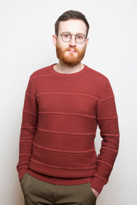 3D Knit Sweater rust