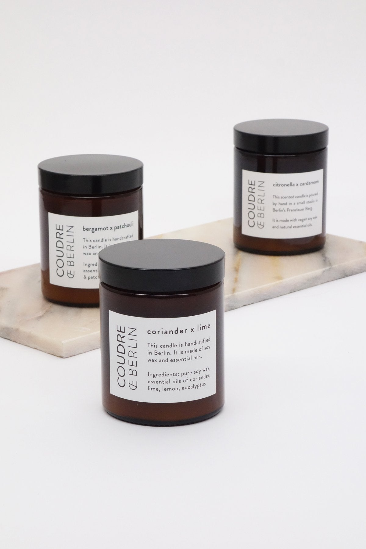 Set of three / ESSENTIALS Scented Candles