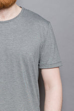 Load image into Gallery viewer, Striped Rolled Sleeve T-Shirt grey