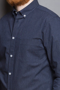 Button Down Shirt navy melange