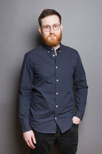 Laden Sie das Bild in den Galerie-Viewer, Button Down Shirt navy melange