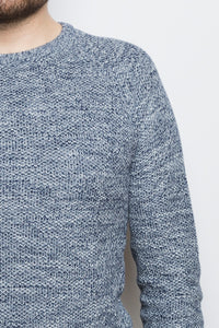 Honeycomb Sweater navy
