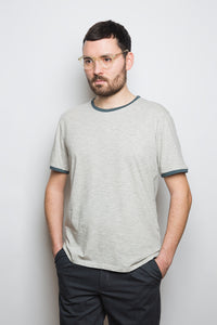 Contrast Collar T-Shirt grey/reed