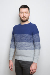 Gradient Sweater blue