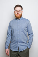 Load image into Gallery viewer, Button Down Shirt denim twill light blue