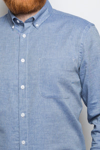 Button Down Shirt denim twill light blue