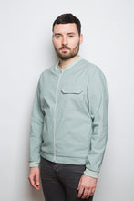 Laden Sie das Bild in den Galerie-Viewer, Light Bomber Jacket green stripe