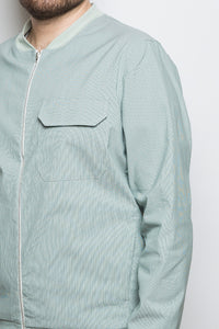 Light Bomber Jacket green stripe