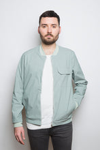 Load image into Gallery viewer, Light Bomber Jacket green stripe