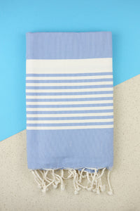 Hamam Blanket Traditional Stripe sky blue