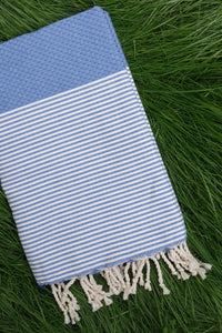 Hamam Blanket Honeycomb Stripe clear sky
