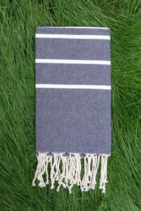 Hamam Blanket Gradient Stripe denim