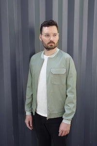 Light Bomber Jacket greenstone