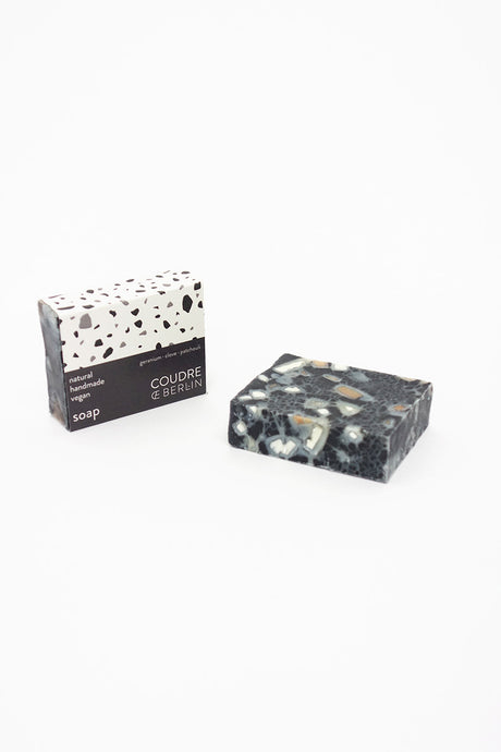 Handcrafted natural soap bar charcoal
