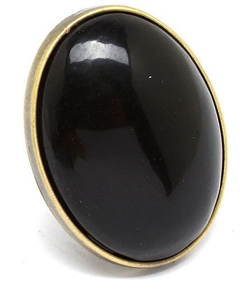 Black Adjustable Ring - Beautique Online Store