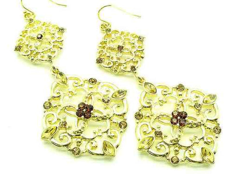 2 1/2 Inch Faceted Bead Earrings - Beautique Online Store