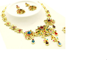 Gold Multi-Color Necklace Set - Beautique Online Store