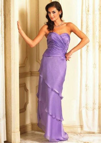 Alyce Dress violet social occassion cocktail formal tiered chiffon dress 14 - Beautique Online Store