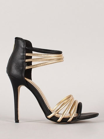 Anne Michelle Strappy Open Toe Shoe - Beautique Online Store