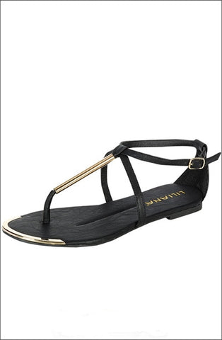 Dolce Vita Inspired Metal Sandal - Beautique Online Store