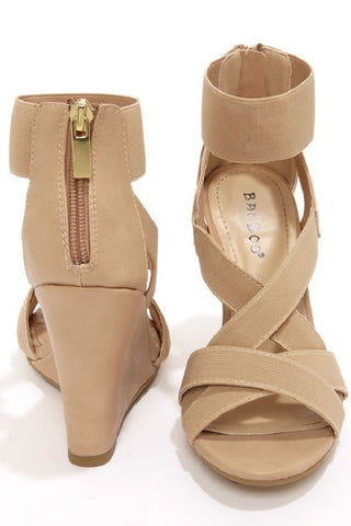 Bamboo Royce 17 Strappy Wedge - Beautique Online Store
