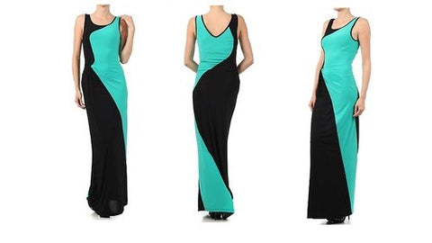 Colorblock Mint Dress - Beautique Online Store