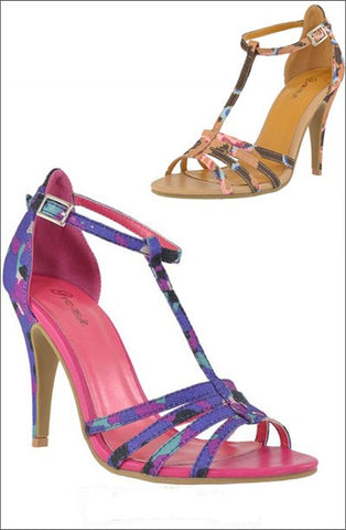 Multi-Color Strap Heel - Beautique Online Store