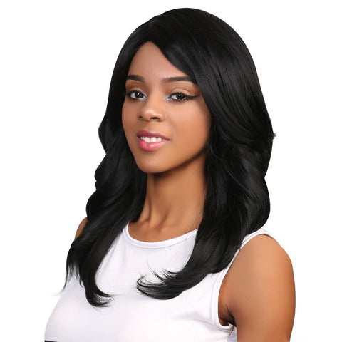 Samantha Human Hair Blend Wig Brazilian Lace - Beautique Online Store