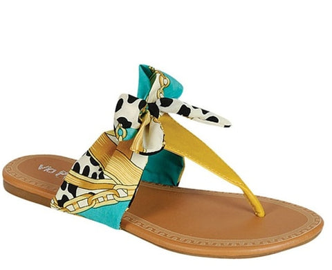 Yellow Ribbon Sandal - Beautique Online Store