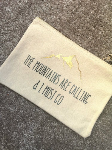 'Mountains are calling' Cosmetics Bag