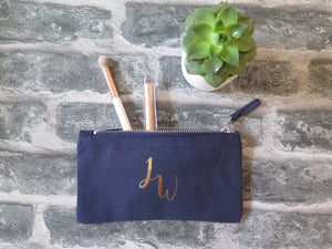Personalised Initial Cosmetic Bag