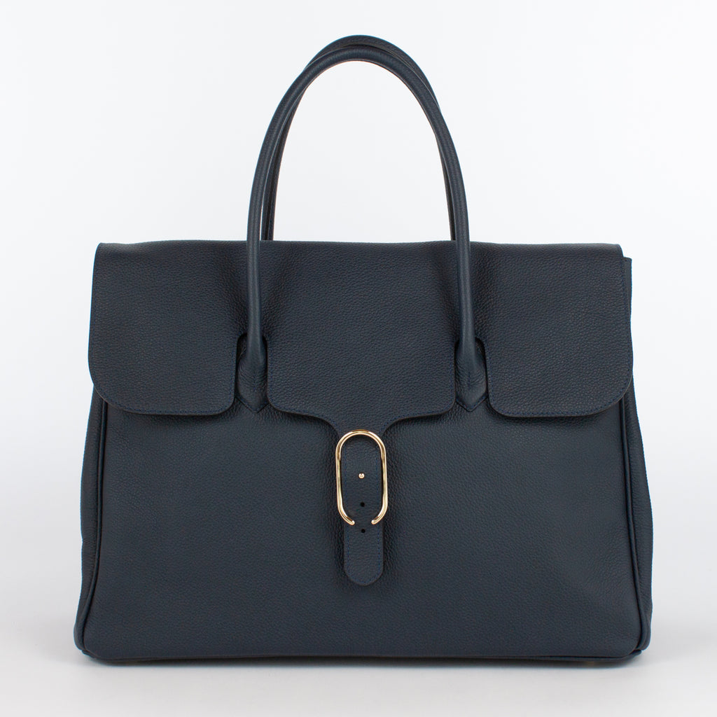 0981 LD FLAP TOTE Col.Navy