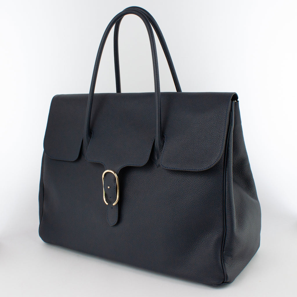 0983 LD FLAP TOTE - L Col.Navy(T)