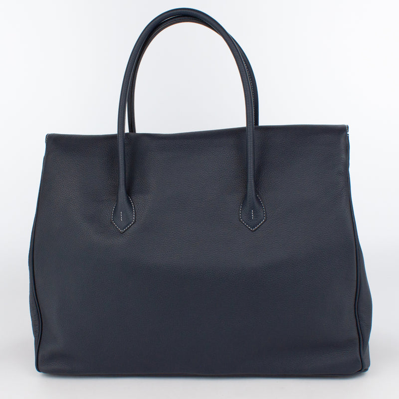 0983 LD FLAP TOTE - L Col.Navy(W)