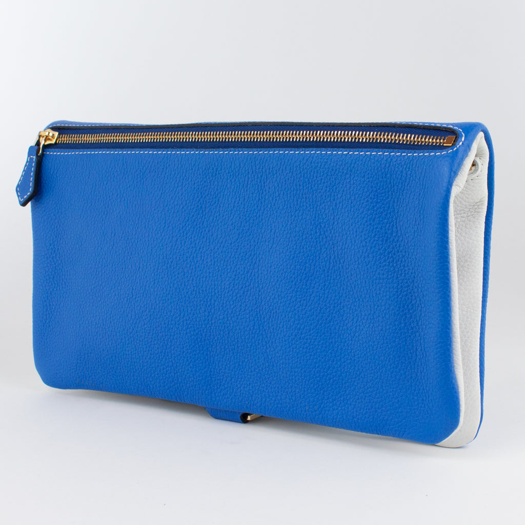 1020B LD/LD FOLDING DOCUMENT CASE Col.Blu/Bianco