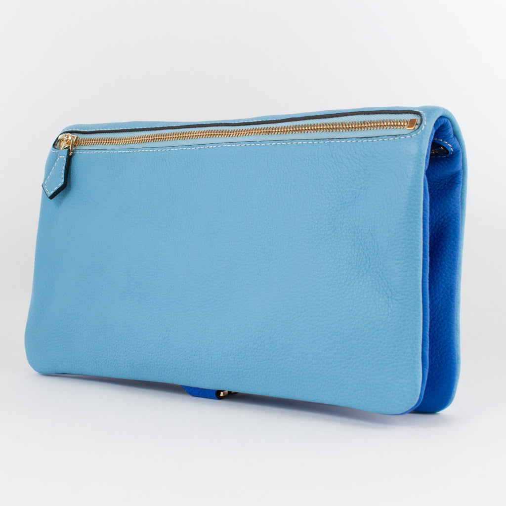 1020B LD/LD FOLDING DOCUMENT CASE Col.Blu/Celeste