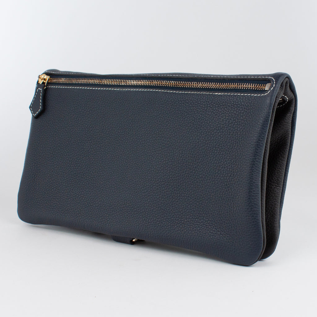 1020B LD/LD FOLDING DOCUMENT CASE Col.Navy/Nero