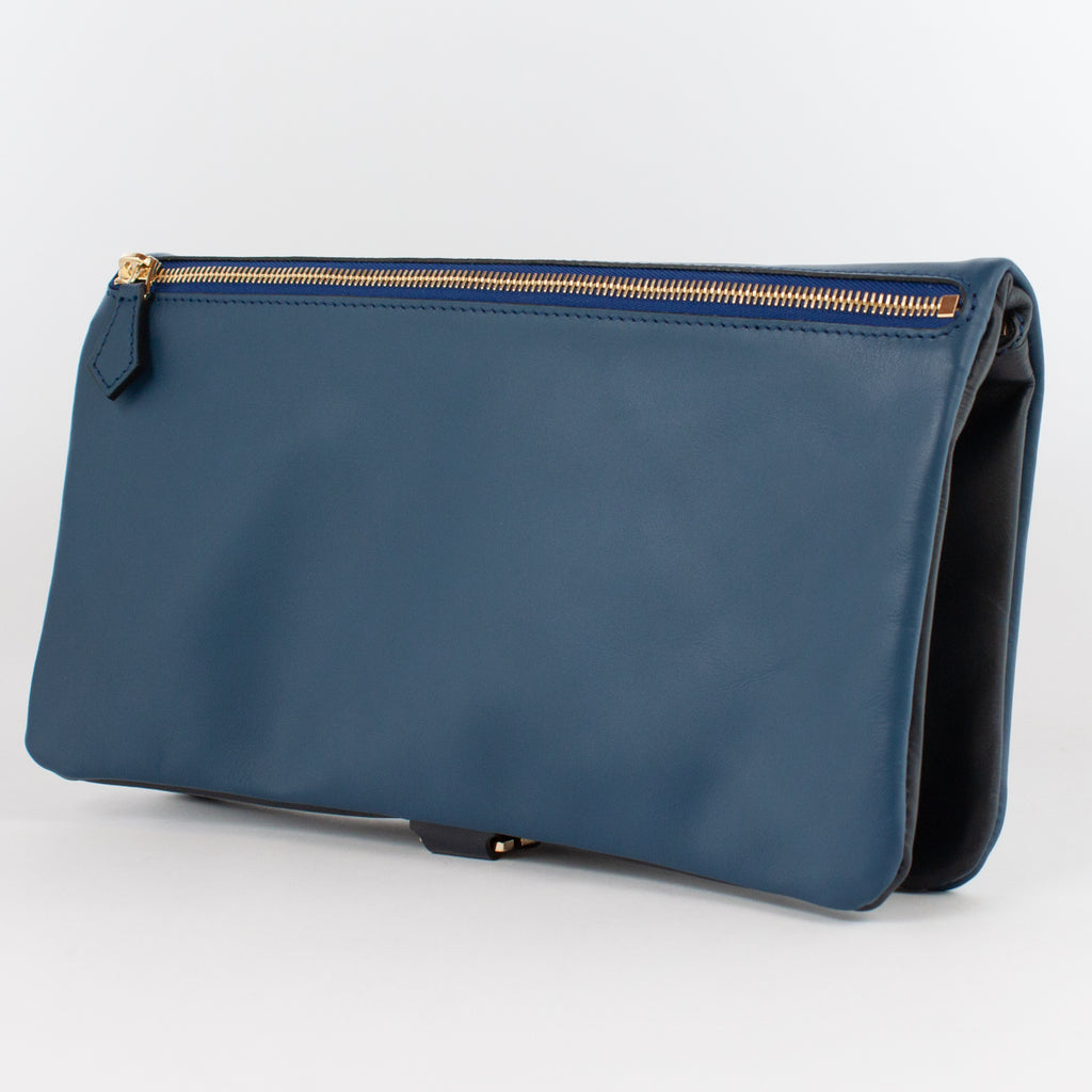 1020B LM/LM FOLDING DOCUMENT CASE Col.Navy/Blu