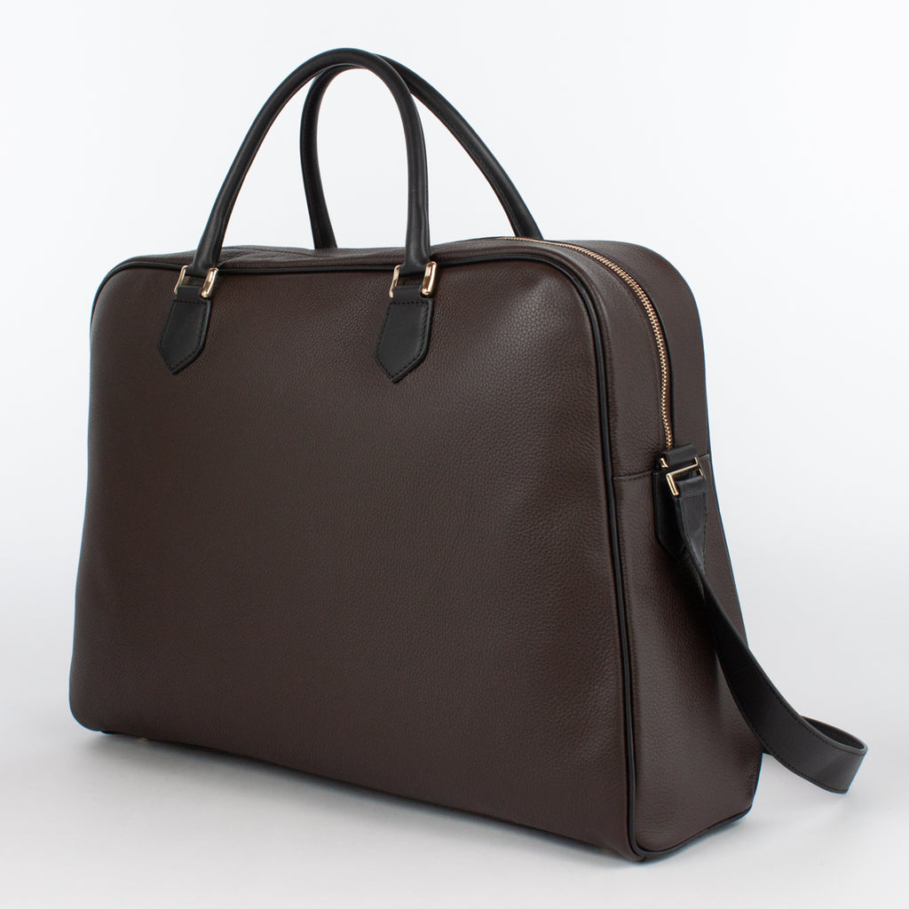 1151 LD/VG BRIEFCASE WITH STRAP Col.T.Moro/Nero