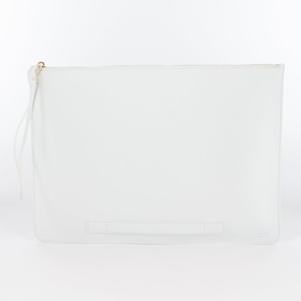 1182M LM POUCH WITH HANDLE Col.Bianco