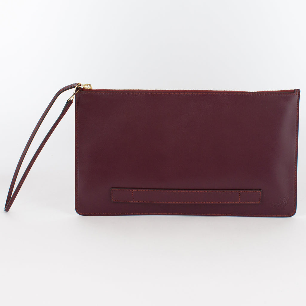 1183M LM POUCH WITH HANDLE Col.Bordeaux